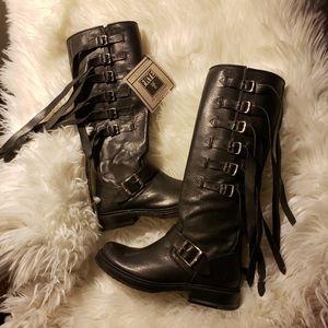 FRYE  women veronica strap tall TUFG engineer boot